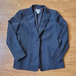 ALFANI   Black Single Button Blazer